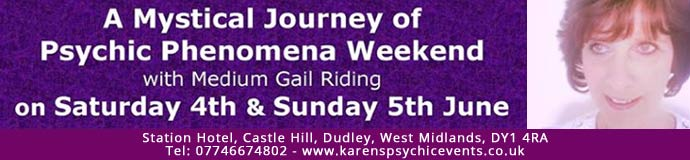 A Mystical Journey of Psychic Phenomena Weekend on 4 & 5 June