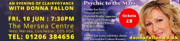 An evening with Celebrity Psychic Medium Donna Fallon