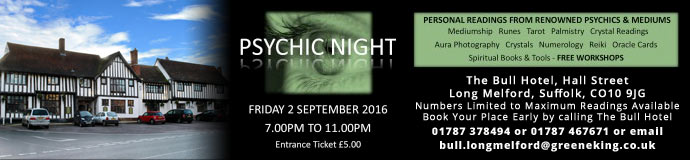 Psychic Night At The Bull Hotel Long Melford
