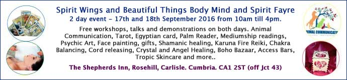 Spirit Wings and Beautiful Things Body Mind and Spirit Fayre