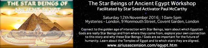 The Star Beings of Ancient Egypt Workshop