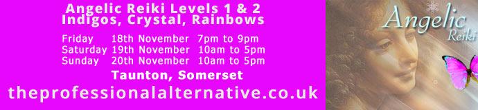 Angelic Reiki Levels 1 & 2 Indigos, Crystal, Rainbows