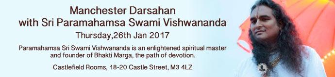 Manchester Darsahan with Sri Paramahamsa Swami Vishwananda