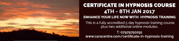 Certificate in Hypnosis Course