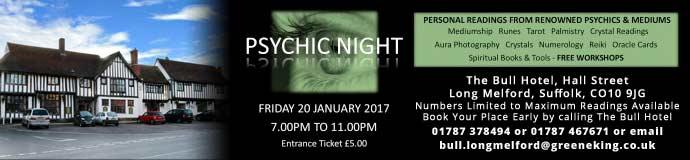 Psychic Night At The Bull Hotel Long Melford