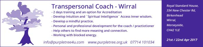 Transpersonal Coach - Friday and Saturday 21st and 22nd April