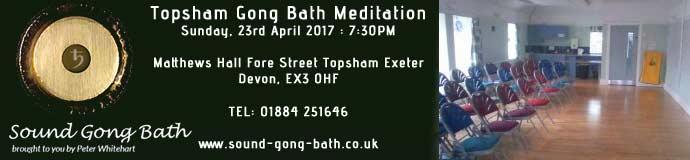 Topsham Gong Bath Meditation