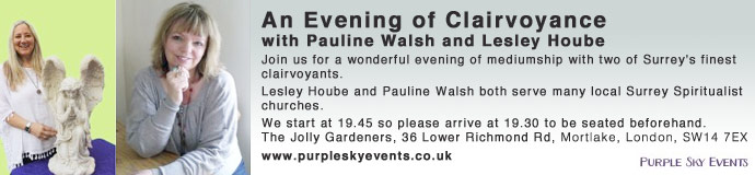 An Evening of Clairvoyance with Pauline Walsh and Lesley Hoube