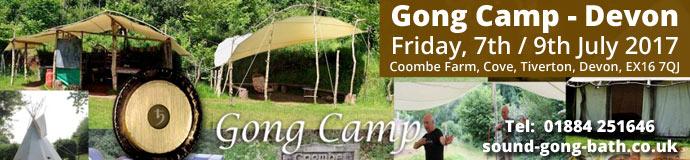 Gong Camp in Devon