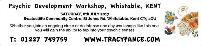 Psychic Development Workshop - 8th July - Whitstable