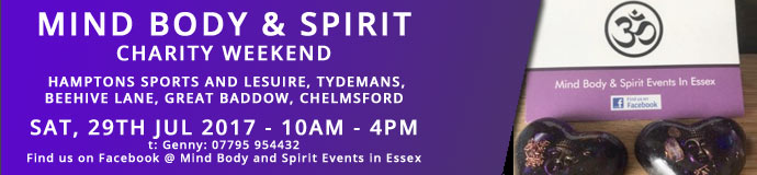 Mind Body and Spirit Charity Weekend