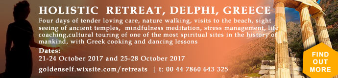 4 Day Holistic Retreat - Delphi Greece - 21st /24th October