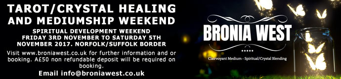 TAROT/CRYSTAL HEALING AND MEDIUMSHIP WEEKEND