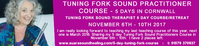 Tuning Fork Sound Practitioner Course - 5 Days CORNWALL