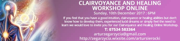 Clairvoyance and Healing Online Workshop Online