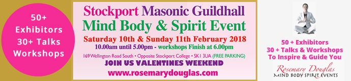 Stockport Guildhall - 10th / 11th February Mind Body Spirit Event