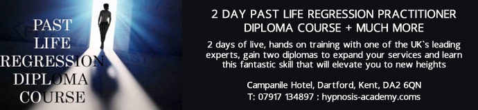2 DAY PAST LIFE REGRESSION PRACTITIONER DIPLOMA COURSE + MUCH MORE