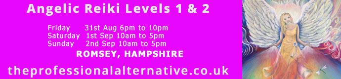 Angelic Reiki Levels 1 & 2 Romsey, Hampshire