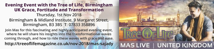 Evening Event with the Tree of Life, Birmingham UK Grace, Fortitude and Transformation