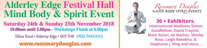 Alderley Edge, Festival Hall  - Mind Body Spirit Event
