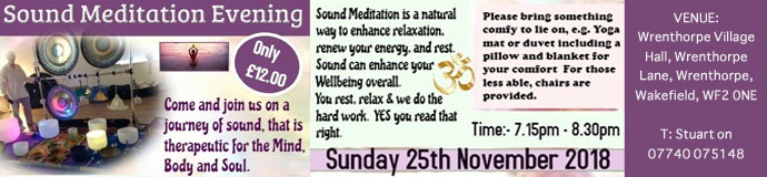 Sound Meditation Evening - Wakefield
