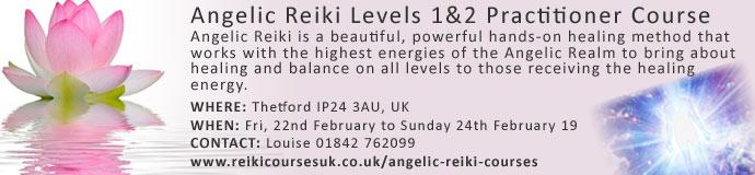 Angelic Reiki 1&2 Practitioner Course Thetford