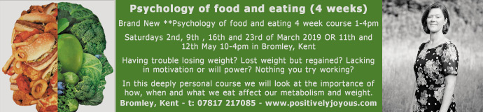 Psychology of food and eating (4 weeks)