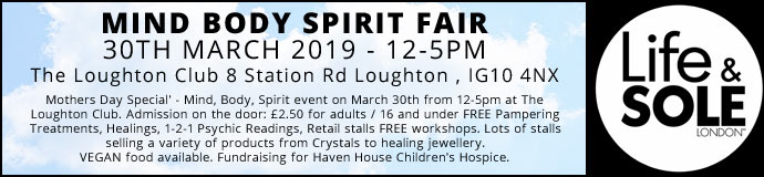 Mind Body Spirit Fair 30th March 2019