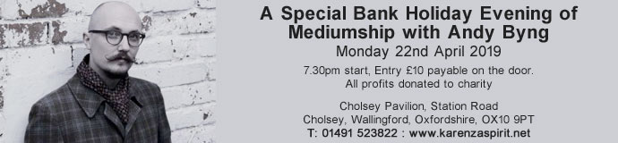 A Special Bank Holiday Evening of Mediumship with Andy Byng