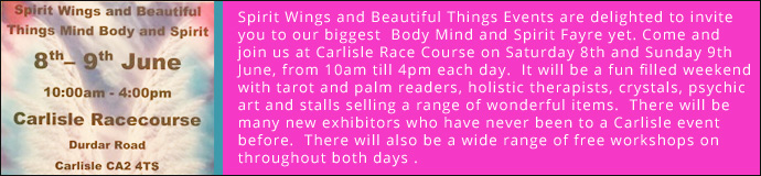Spirit Wings and Beautiful Things Body Mind & Spirit Fayre