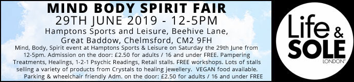 Mind Body Spirit Fair 29th June 2019