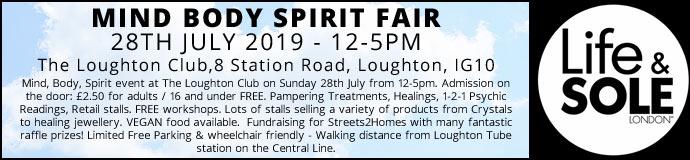 Mind Body Spirit Fair 28th July 2019 £2.50 Entrance pay on door