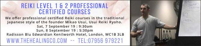 Reiki Level 1 & Reiki Level 2 Professional Certified Courses