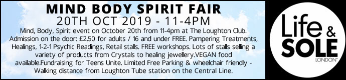 Mind Body Spirit Fair 20th Oct 2019 £2.50 Entrance pay on day