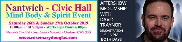 Nantwich Civic Hall Mind Body Spirit Event 26th October 2019