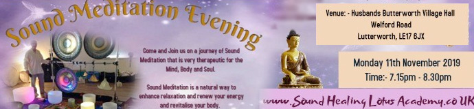 Sound Meditation Evening - LEICESTERSHIRE
