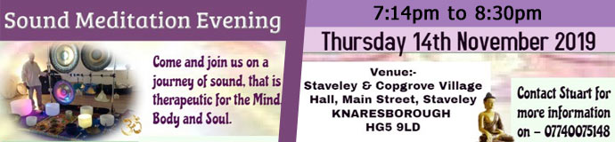Sound Meditation Evening - KNARESBOROUGH