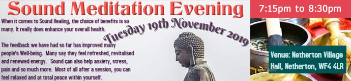 Sound Meditation Evening - Wakefield/Dewsbury/Barnsley