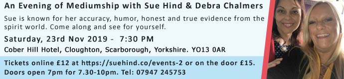 An Evening of Mediumship with Sue Hind & Debra Chalmers