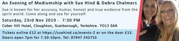 An Evening of Mediumship with Sue Hind & Debra Chalmers