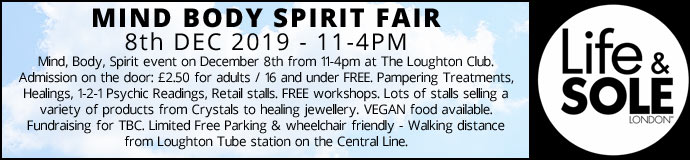 Mind Body Spirit Fair 8th Dec 2019 £2.50 Entrance pay on day