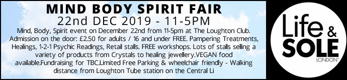 Mind Body Spirit Fair 22nd Dec 2019 £2.50 Entrance pay on day