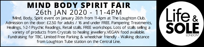 Mind Body Spirit Fair 26th Jan 2020 £2.50 Entrance pay on day