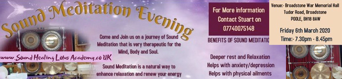 Gong Bath (Sound Meditation Evening) - POOLE, BROADSTONE