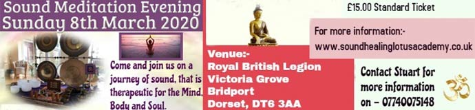 Gong Bath (Sound Meditation Evening) - BRIDPORT