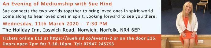 An Evening of Mediumship with Sue Hind