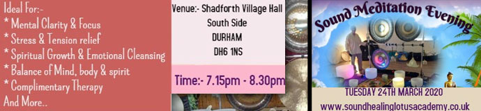 Gong Bath (Sound Meditation Evening) - DURHAM