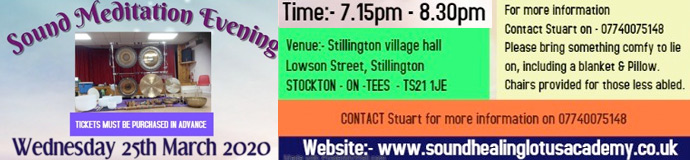 Gong Bath (Sound Meditation Evening) - STOCKTON-ON-TEES