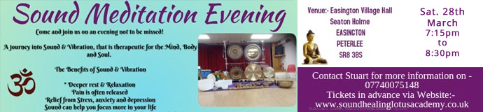 Gong Bath (Sound Meditation Evening) EASINGTON VILLAGE