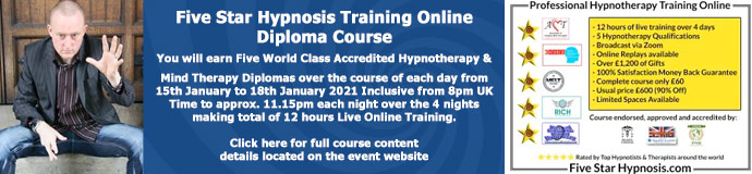 Five Star Hypnosis Training Online Diploma Course
